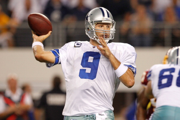 Washington Redskins v Dallas Cowboys. tony romo