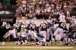 Jets kicker Nick Folk kicks the game winning 50-yard field goal